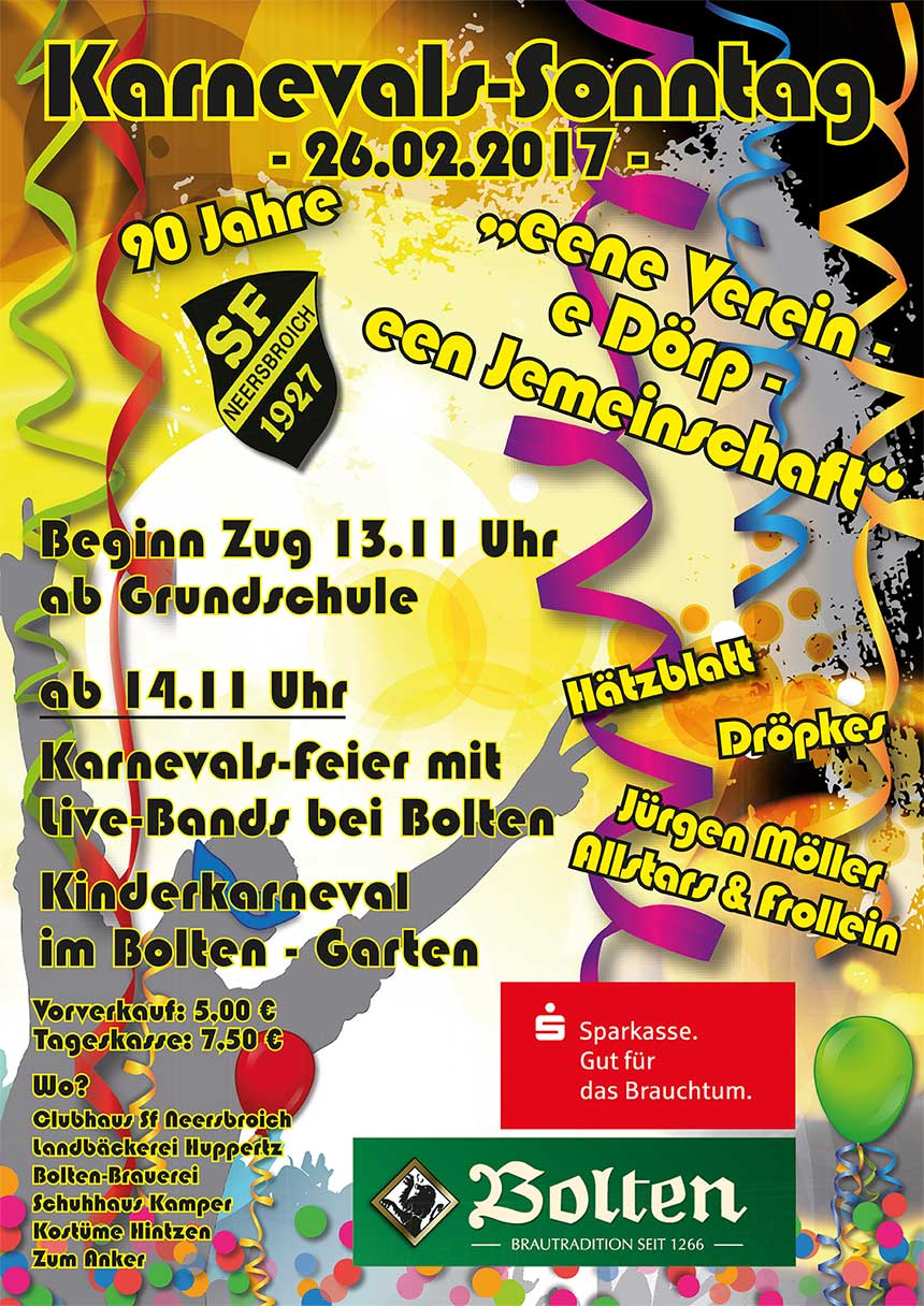 Karneval 2017 in Neersbroich