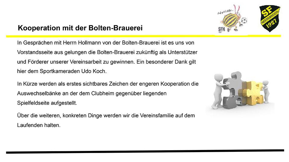 Kooperation mit der Bolten Brauerei