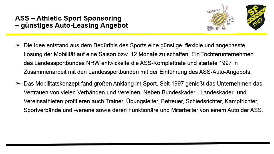ASS – Athletic Sport Sponsoring