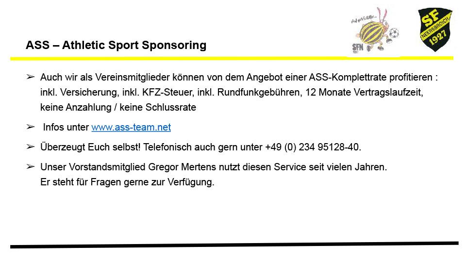 ASS – Athletic Sport Sponsoring