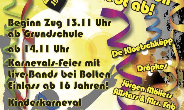 Karneval 2018 – Neersbroich hebt ab !