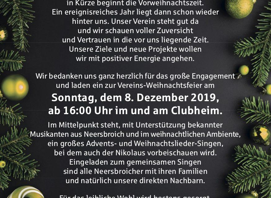 Einladung zur Weihnachtsfeier