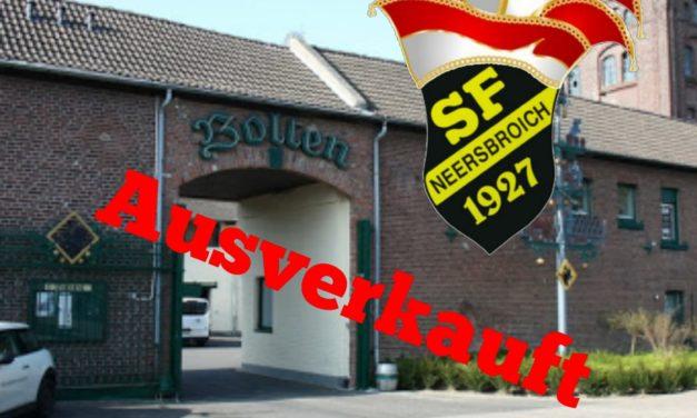 Kostümparty in der Bolten-Brauerei: Wir sind ausverkauft !