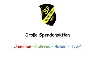 "Große Spendenaktion  ""Familien – Fahrrad – Rätsel – Tour"""